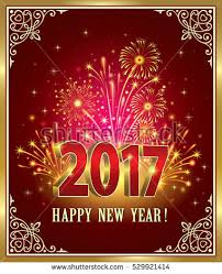 happy new year post card postcard happy new year 2017 on stock vector 529921414