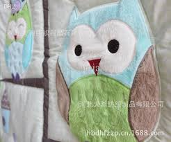 Duvet Baby Wholesale Happy Owls And Friends Cute Baby Crib Bedding Set Cot