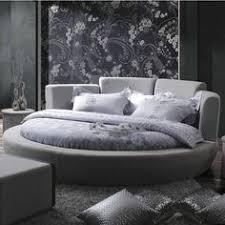 luxury bedroom furniture round bed tufted headboard luxury bedding