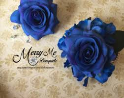 Royal Blue Corsage And Boutonniere Royal Blue Corsage Set Blue Boutonniere Set Blue Corsage
