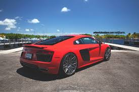audi r8 ads set numero dos dynamite red 2017 audi r8 v10 on rotiform qlb u0027s