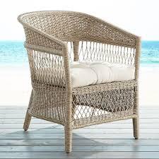 woven wicker armchair