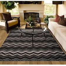 8 X 6 Area Rug Garland Pow Wow Zig Zag Patterned Woven Olefin Area Rug 4 6 X 6