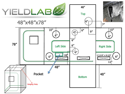 yield lab 48x48x78 reflective grow tent