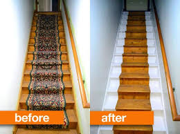 before u0026 after jae u0027s brightened basement stairs apartment therapy