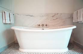Wall Mounted Tub Faucets Wall Mounted Tub Filler Transitional Bathroom Elizabeth