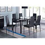 glass dining room sets amazon com glass table chair sets kitchen dining room