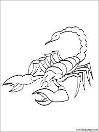 scorpion coloring print coloring pages clipart