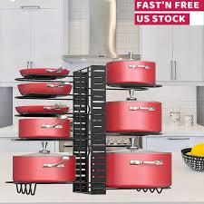 kitchen cabinet door pot and pan lid rack organizer kitchen pots rack organizer pans holder kitchen cabinet pantry pot lid 3 methods