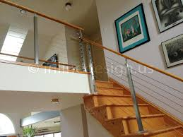 interior cable railing with continuous stair hand rail zoom in