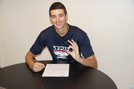 max lazar signs with fau coral springs colts baseball coral springs senior pitcher max lazar has signed a letter of intent tom further his academic and athletic career at florida atlantic university in boca