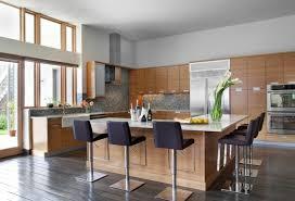 ilot cuisine cuisine contemporaine avec ilot en l meuble bois bar lzzy co