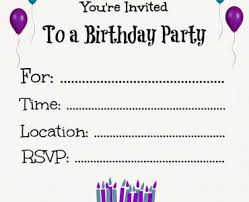 birthday party invite template birthday party invite template in