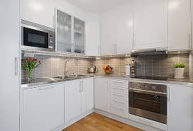 White Cabinets Kitchens Modern White Apartment Interior Decorating Modern White Kitchens
