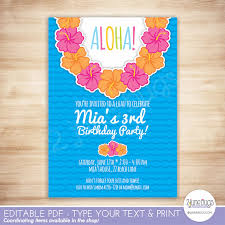 luau party invitation luau birthday party invitation template