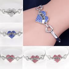 love hearts charm bracelet images Hot new arrival crystal letter family member best friend bracelets jpg