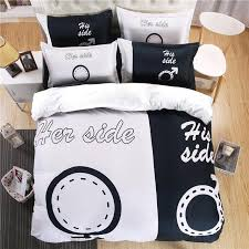 his and hers bed set side his side bedding set for duvet pillowcase teeviral