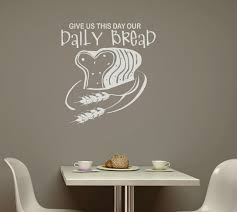 169 Best Wall Decals Images by Give Us This Day Our Daily Bread Kitchen Wall Decal Stickers Quote