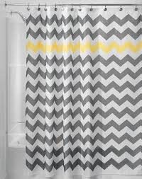 Grey And Yellow Shower Curtains Chevron Gray Yellow Shower Curtain