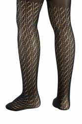 kneesntoes net serlei crochet cabled designed tights black