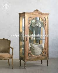 Vintage Display Cabinets French Glass Display Cabinet Vintage Country Antique Furniture