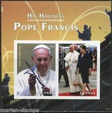 pope francis souvenirs guyana his holiness pope francis souvenir sheet ii imperforated