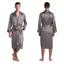 robe de chambre homme en soie robe longue en soie luxueuse classique pour homme