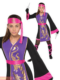 ninja halloween costume kids girls sassy samurai costume childs teens ninja warrior fancy dress