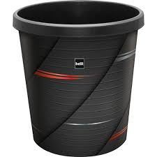 corbeille bureau corbeille de bureau moderne poubelle 18 litres noir hightech