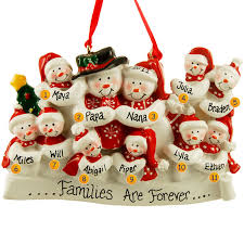 grandparent christmas ornaments snow family of 11 scarves ornament personalized ornaments
