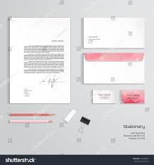 Letterhead And Business Cards by Vector Identity Templates Multicolored Geometric Pattern Stock