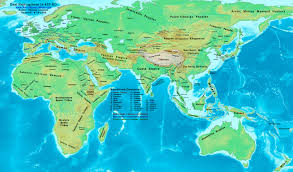 Asia Geography Map by World History Maps By Thomas Lessman