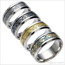 men ring designs men ring stailess steel pattern design inlay silver and