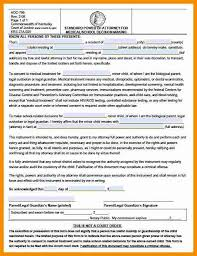 medical consent form 6 best images of printable emergency