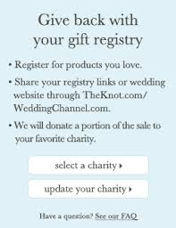 charity gift registry give back with your gift registry register for products you