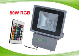 color changing outdoor led flood light with remote controller for
