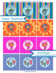 team umizoomi party supplies umizoomi printable cupcake toppers stickers party circles