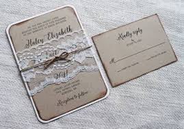 vintage lace wedding invitations rustic wedding invitation vintage lace wedding invitation kraft