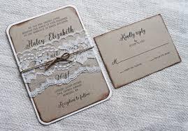 rustic wedding invitation vintage lace wedding invitation kraft