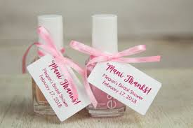 nail baby shower favors thanks tags bridal shower thank you gifts baby shower