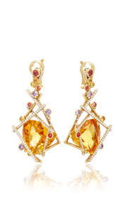 citrine earrings mikado citrine earrings by lorenz baumer moda operandi