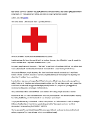 red cross exposes the holocaust lie the holocaust