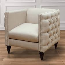 Tufted Accent Chair Furniture Of America Bently Tufted Accent Chair In Beige Idf