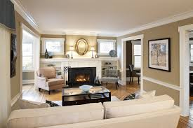 minimalis living room design beige wall paint color ivory faux
