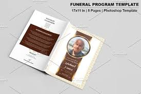 Funeral Program Designs Funeral Program Template 8 Page V533 Brochure Templates