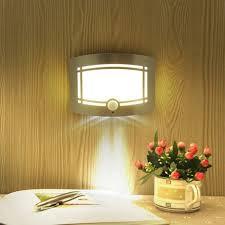 wireless infrared motion sensor wall led night light novelty