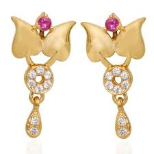 earrings in grt grt jewellers india limited chennai manufacturer of