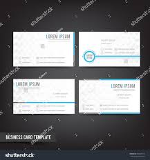 clear minimal design business card template stock vector 296465210