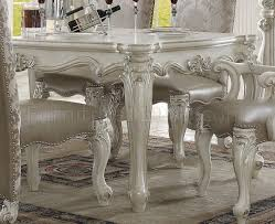 versailles dining room versailles dining table white by acme 61140