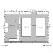 garage plan garage double atelier plan de 2 pièces et 60 m2 garage
